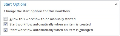 Workflow Start Option